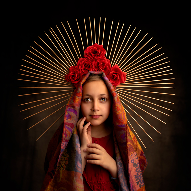 Madone portrait enfant par Cindy Fernandez Photographe Fine Art Portrait